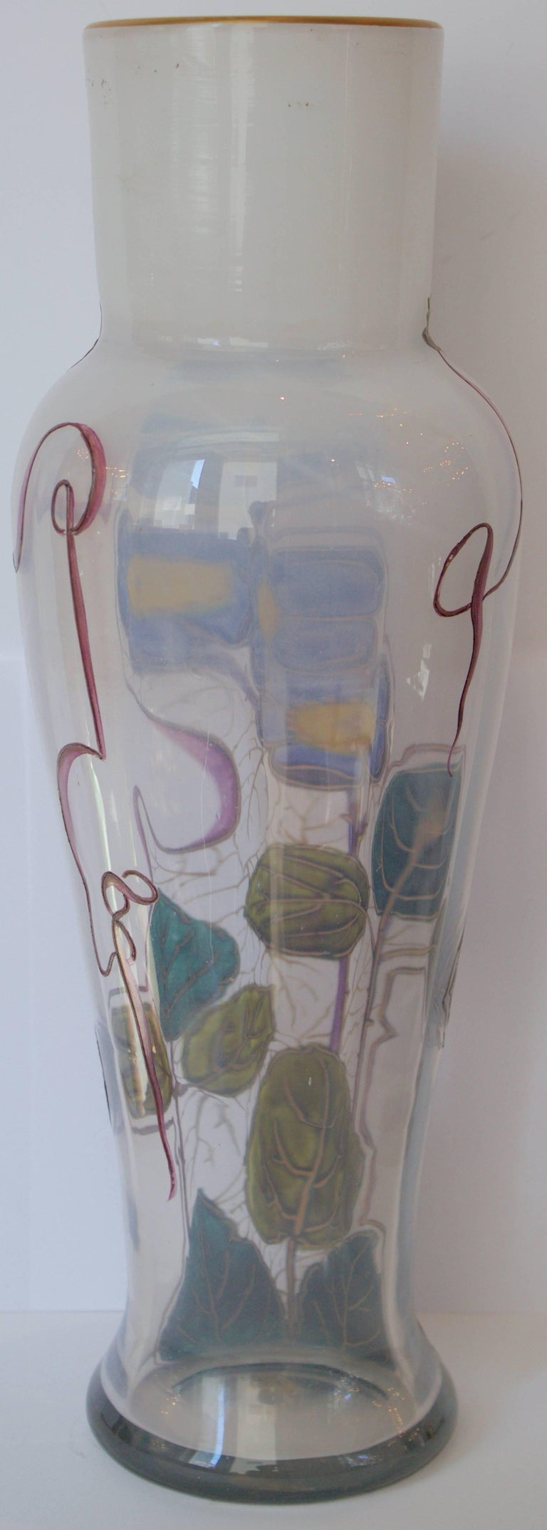 "French 19th Century Glass Vase by Legras Signed "" Montjoye L&Cie"" 4"