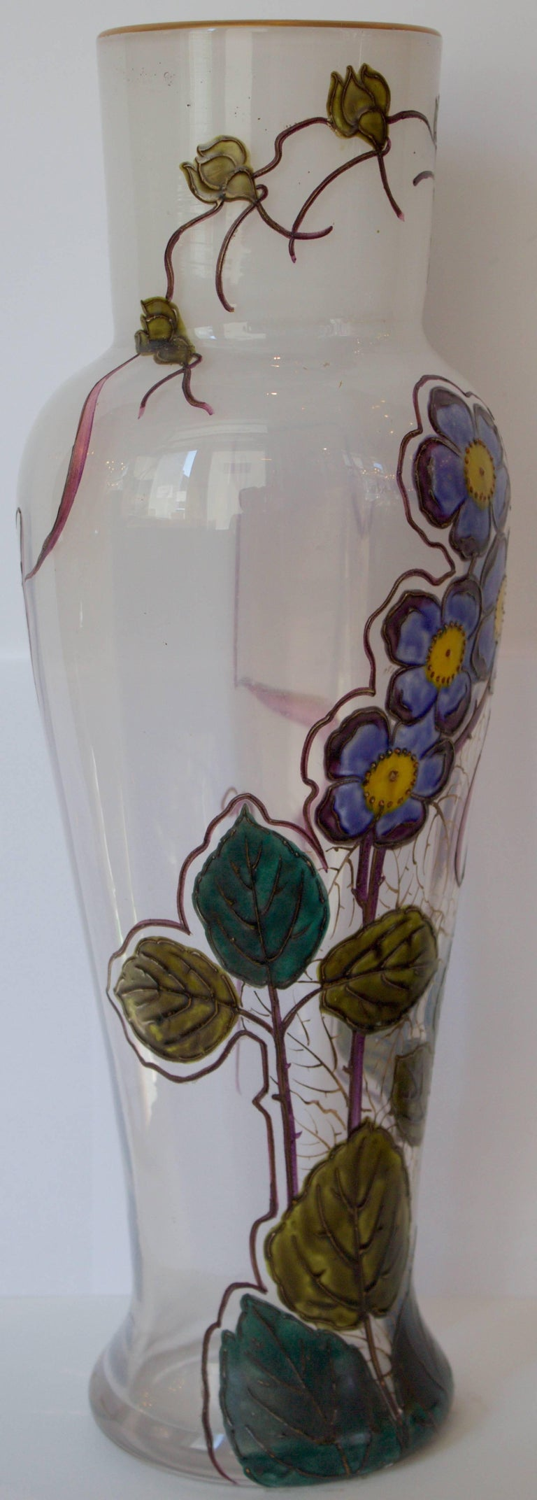"French 19th Century Glass Vase by Legras Signed "" Montjoye L&Cie"" 6"