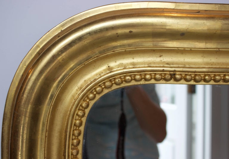 French Gilt Louis Philippe Mirror In Excellent Condition For Sale In Charleston, SC