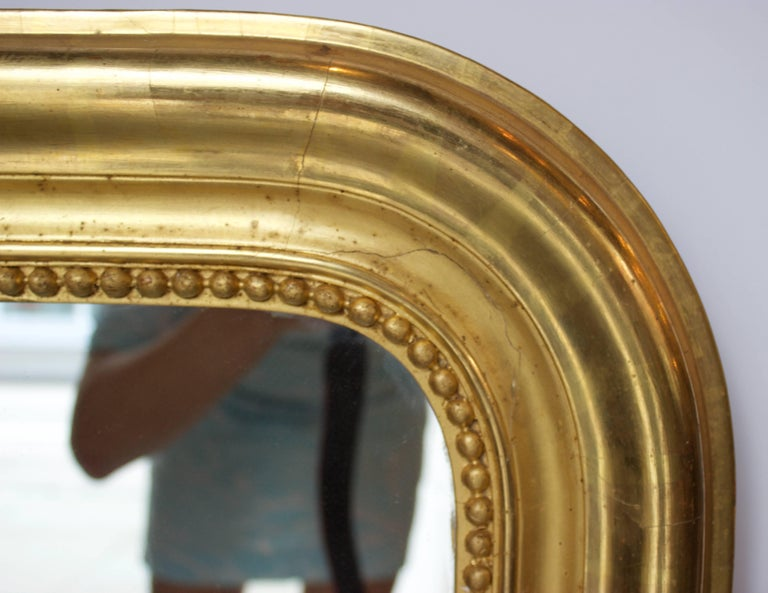 Mid-19th Century French Gilt Louis Philippe Mirror For Sale