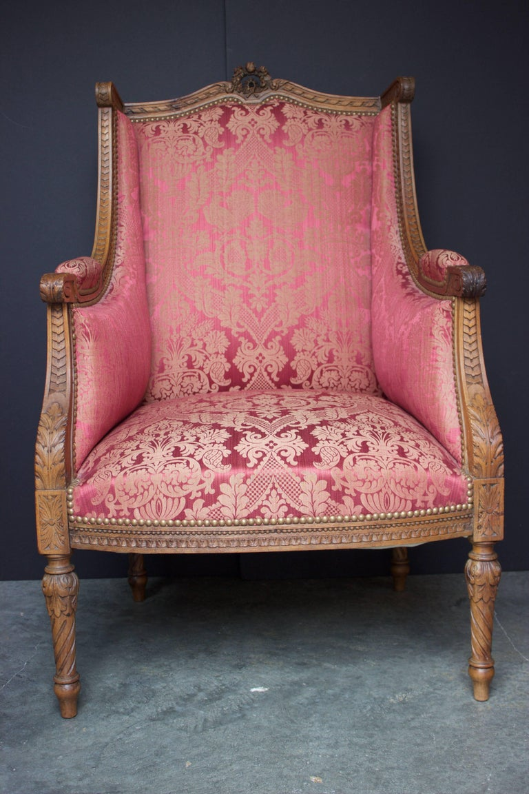 "French 19th Century Louis XVI Bergere ""En Confessionnal"" 2"