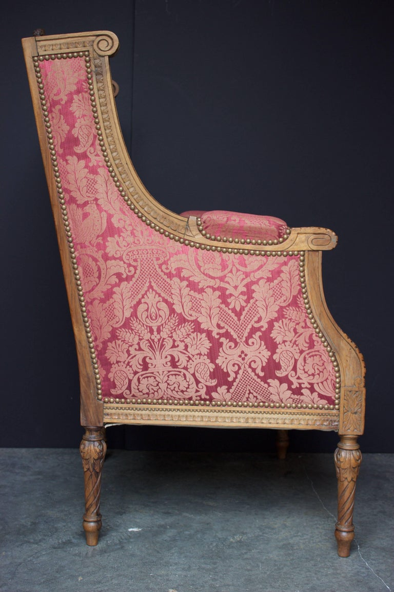 "French 19th Century Louis XVI Bergere ""En Confessionnal"" 3"
