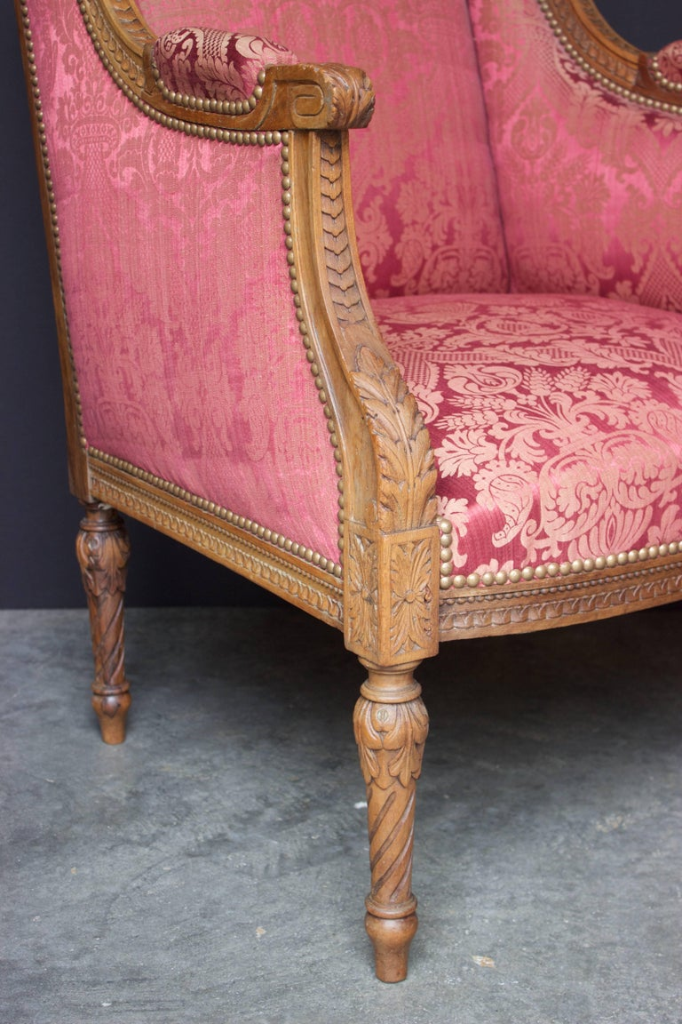"French 19th Century Louis XVI Bergere ""En Confessionnal"" 6"