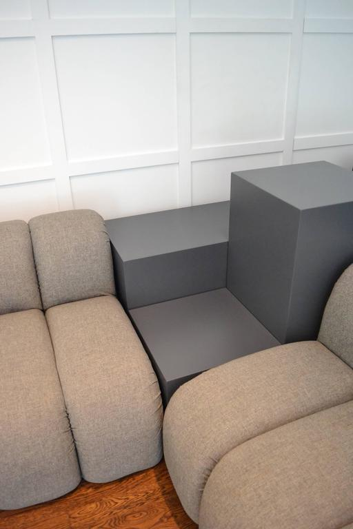 Custom Paul Evans Sectional Sofa With Integrated Tables