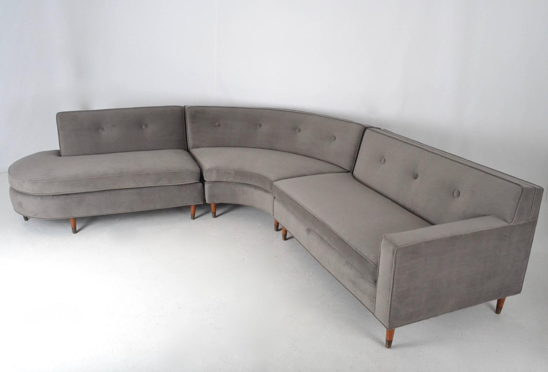 Boomerang-Form Sectional Sofa, USA, circa 1950s at 1stdibs