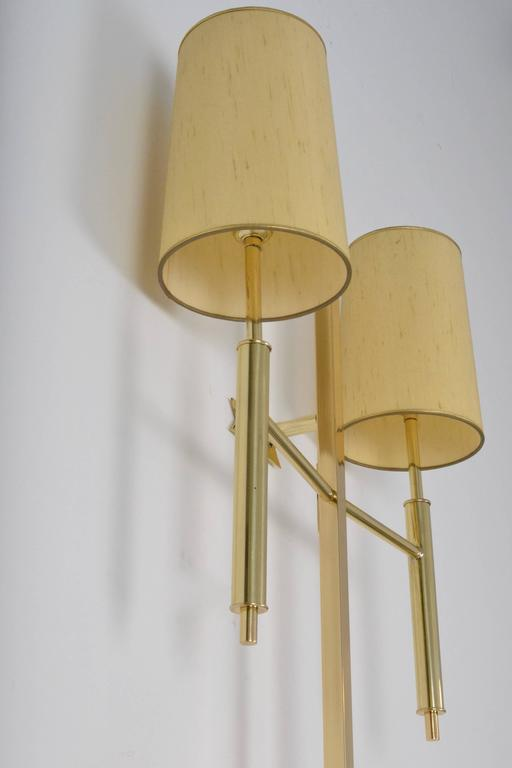 Large Modernist Brass Wall Sconce, USA, circa 1970s For Sale at 1stdibs