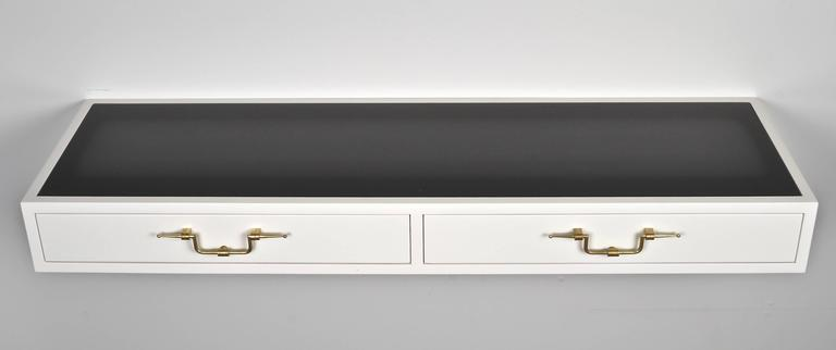 Mid-Century Modern Tommi Parzinger Floating Console, USA, circa 1950s For Sale