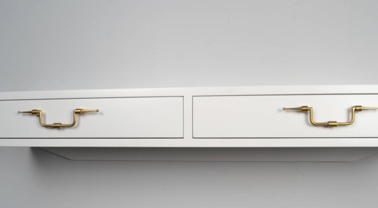 Mid-20th Century Tommi Parzinger Floating Console, USA, circa 1950s For Sale