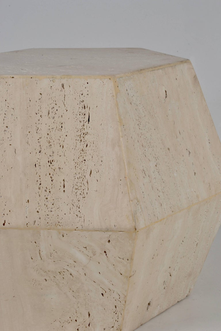 Travertine Marble Polygon Cocktail Table For Sale At 1stdibs