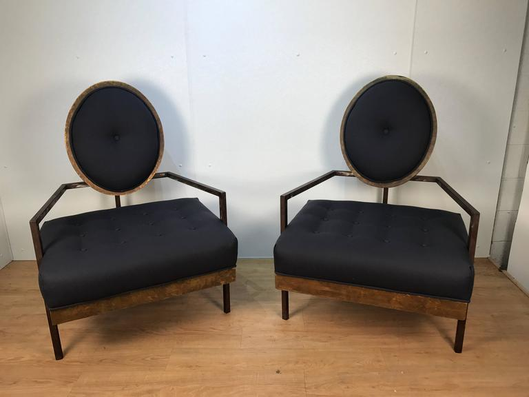 Pair of French Modern Club Chairs 2