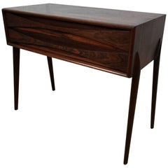 Sculptural AB Glas and Trä Rosewood Chest