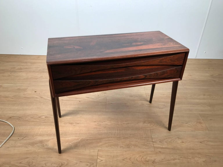 AB Glas and Tra¨ rosewood chest, beautiful rich grained rosewood case fitted with two long drawers, raised on four slight tapering legs.