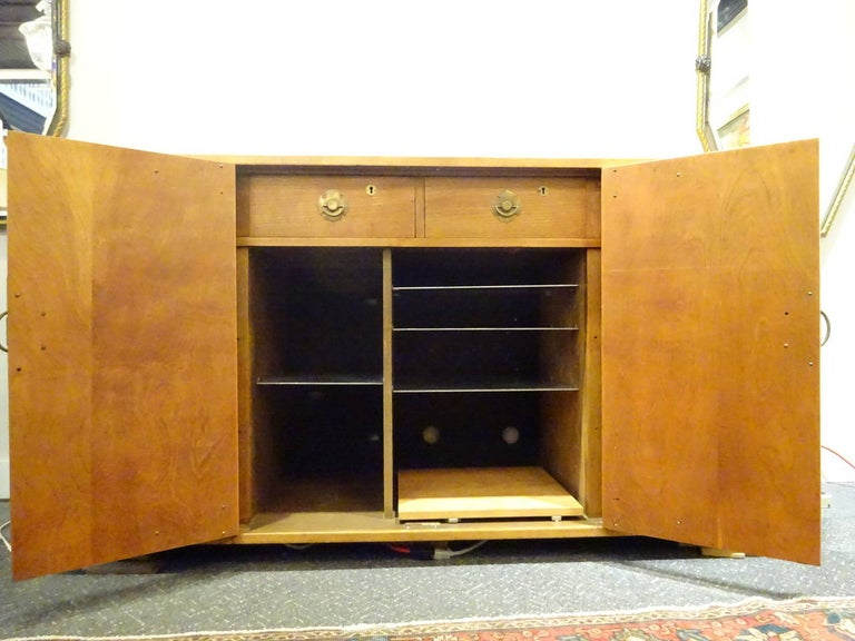 Mid-Century Modern Midcentury Asian Teak Credenza or Sideboard by Mildred Warder For Sale