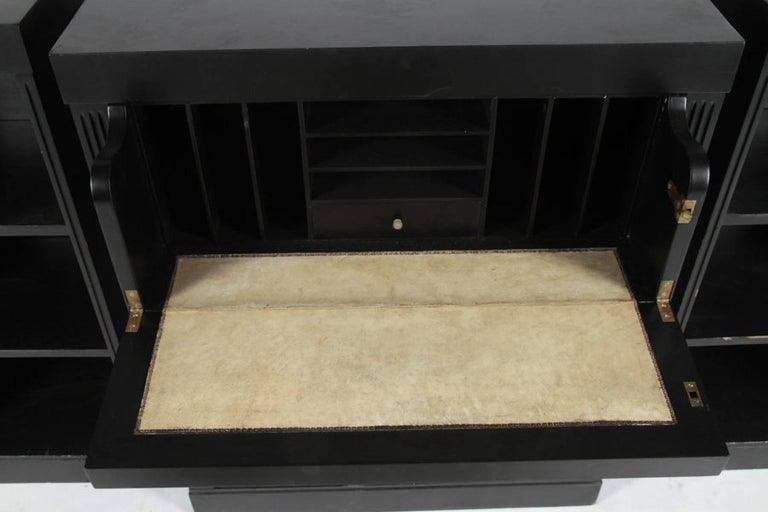 American Three Section Hollywood Regency Credenza For Sale