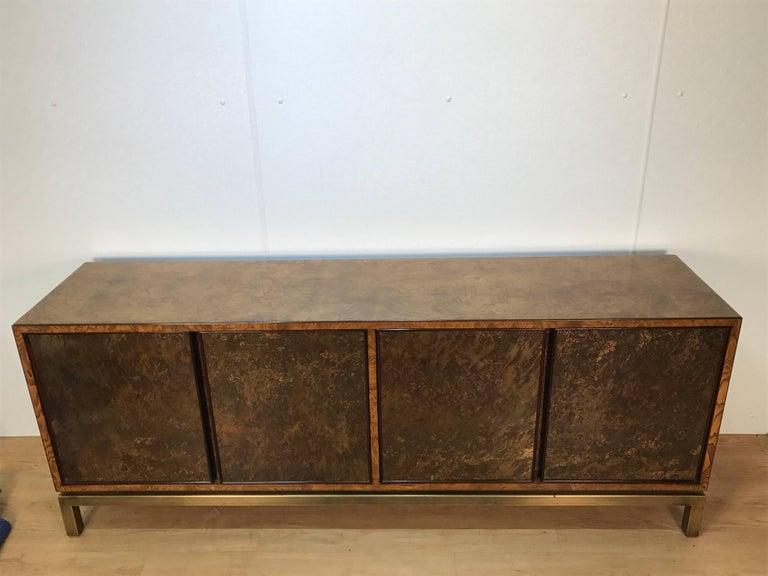 Mid-Century Modern Acid Washed Bronze Sideboard by John Widdicomb For Sale