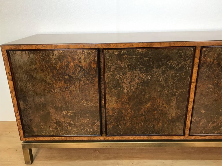 American Acid Washed Bronze Sideboard by John Widdicomb For Sale