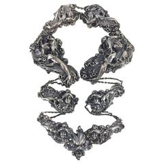 Art Nouveau Sterling Belt