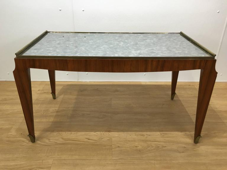 Brass Fine Art Deco Coffee Table For Sale