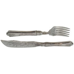 Chinese Export Silver Fish Fork & Knife