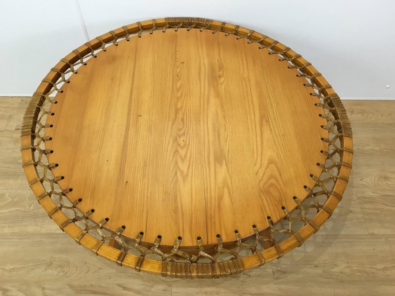 Circular Adirondack Style Coffee Table For Sale At 1stdibs