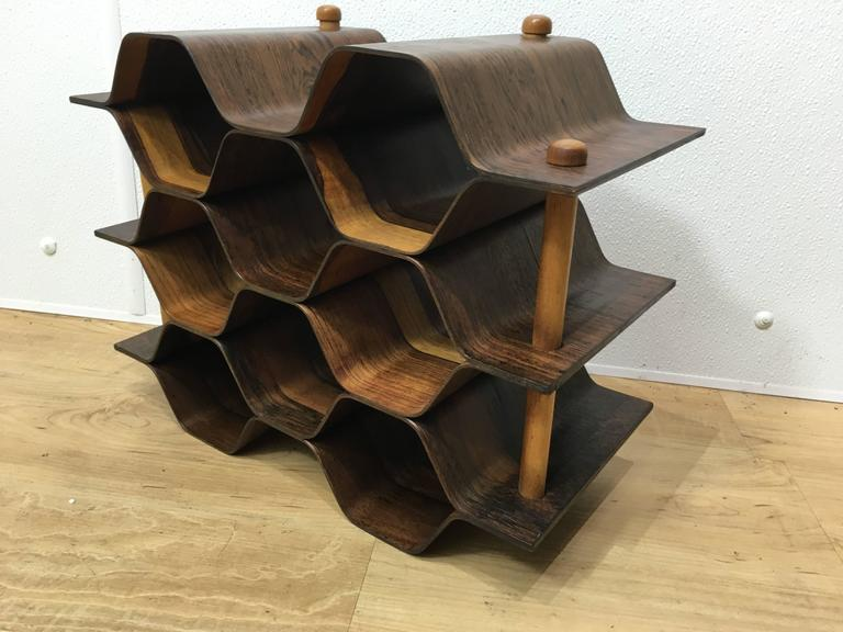 Swedish rosewood wine rack by Torsten Johanson (1917-1996), Sweden. Expertly finished.