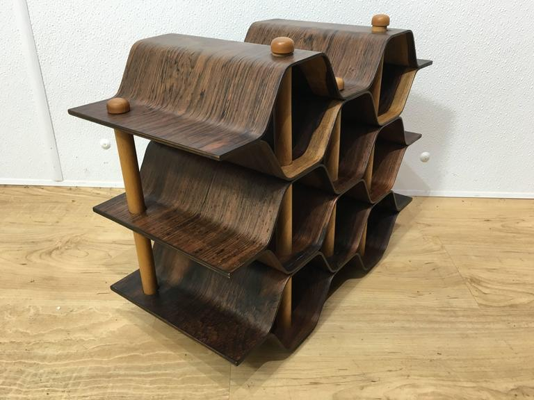Scandinavian Modern Swedish Rosewood Wine Rack by Torsten Johanson For Sale