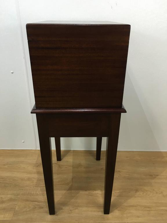 Art Deco Dunhill London Standing Mahogany Humidor For Sale At 1stdibs