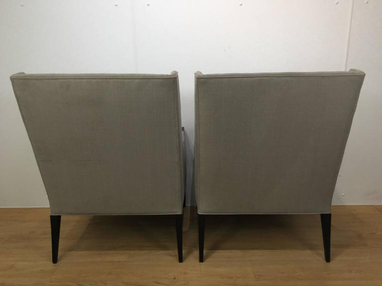 Mid-Century Modern Pair of Attributed Edward Wormley for Dunbar Club Chairs  For Sale