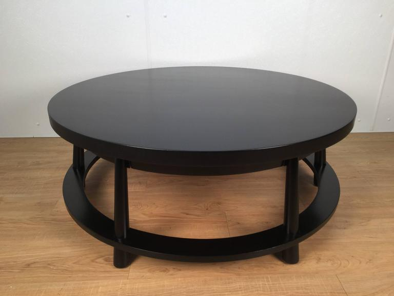 American Rare Ebonized Two-Drawer Cocktail Table by T.H. Robsjohn-Gibbings For Sale