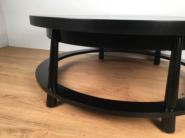 Mid-20th Century Rare Ebonized Two-Drawer Cocktail Table by T.H. Robsjohn-Gibbings For Sale