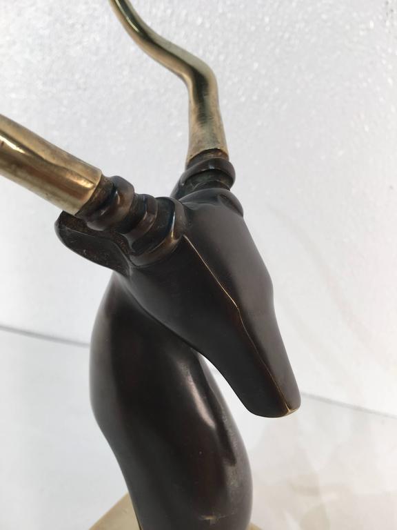 Bronze Kudu Sculpture, after Salvador Dali For Sale