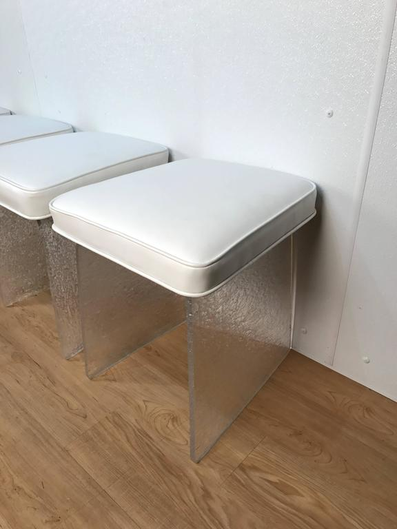 two lucite benches stools for sale at 1stdibs