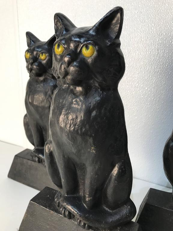 Antique Cast Iron Seated Cat Doorstop For Sale At 1stdibs