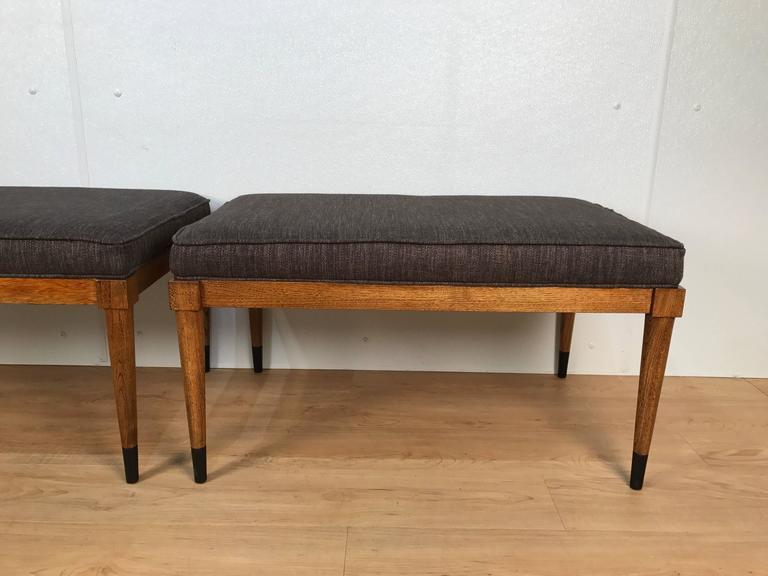 Pair of T.H. Robsjohn-Gibbings Walnut Benches 3