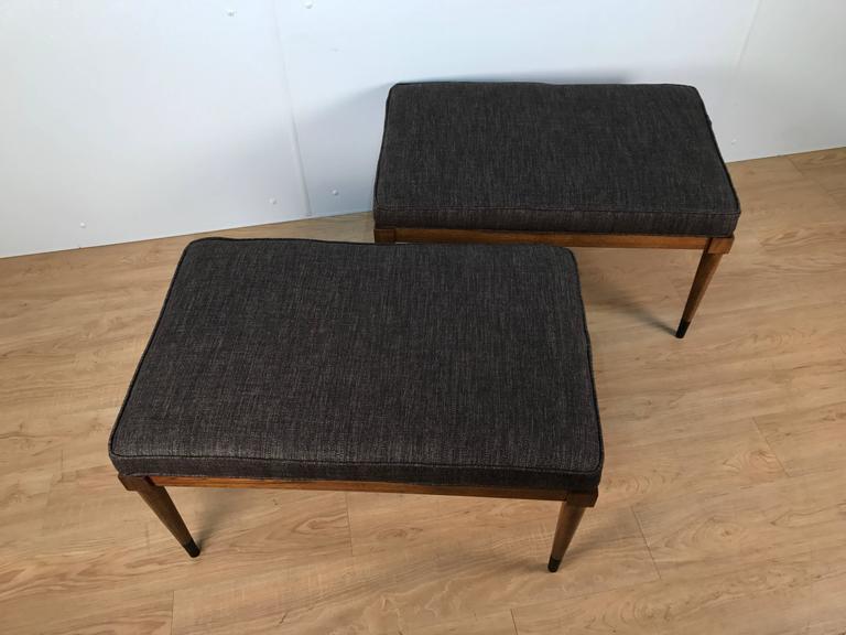 Pair of T.H. Robsjohn-Gibbings Walnut Benches 6