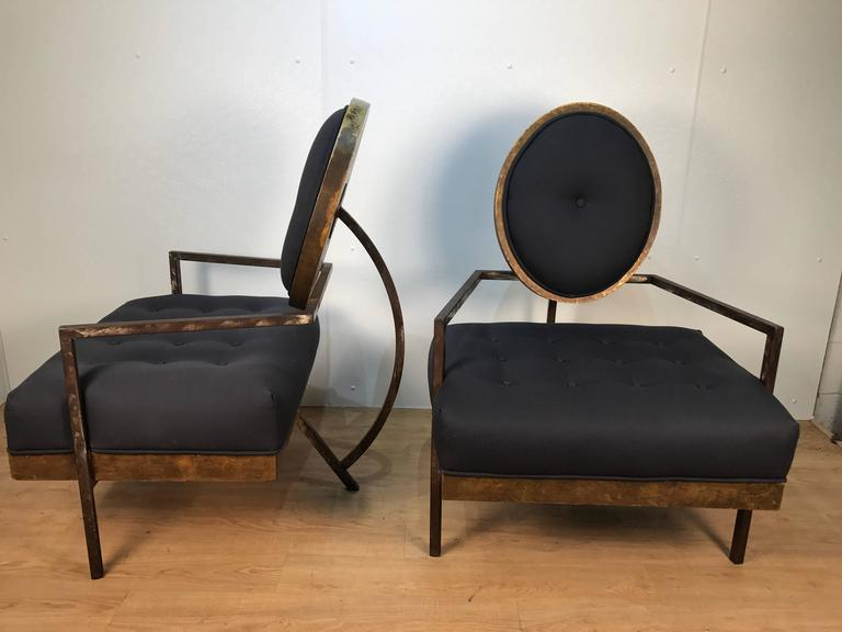 Pair of French Modern Club Chairs 10