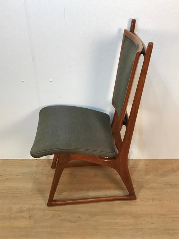Upholstery Four Vladimir Kagan Dining Chairs For Sale