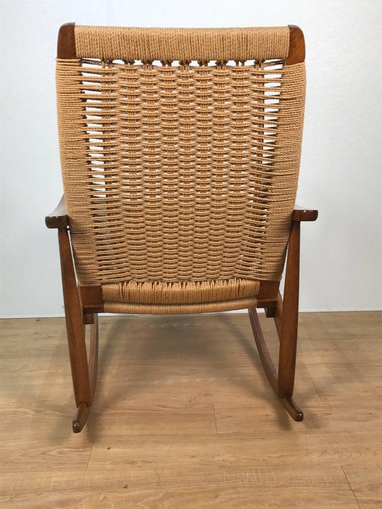 American Mid-Century Wegner Style Rocking Chair