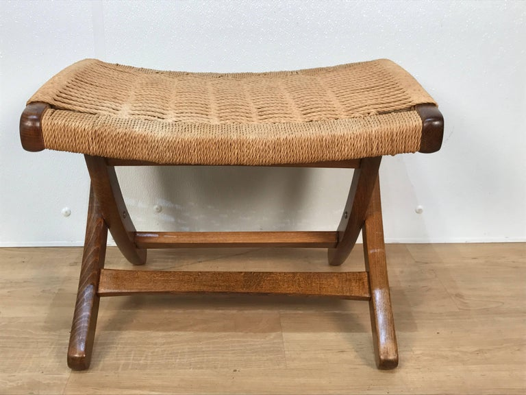 Mid-20th Century Lounge Chair and Ottoman