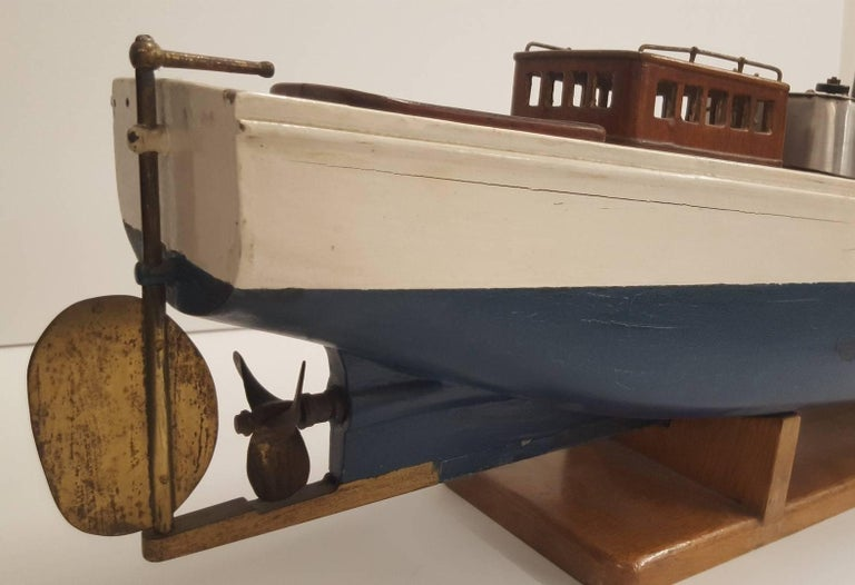 Early 20th Century 'Model' Steam Powered Pond Boat For Sale 2