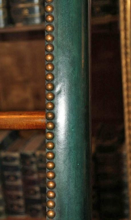 C. Mariani Custom Mahogany Folding Library Ladder in the English Taste 3