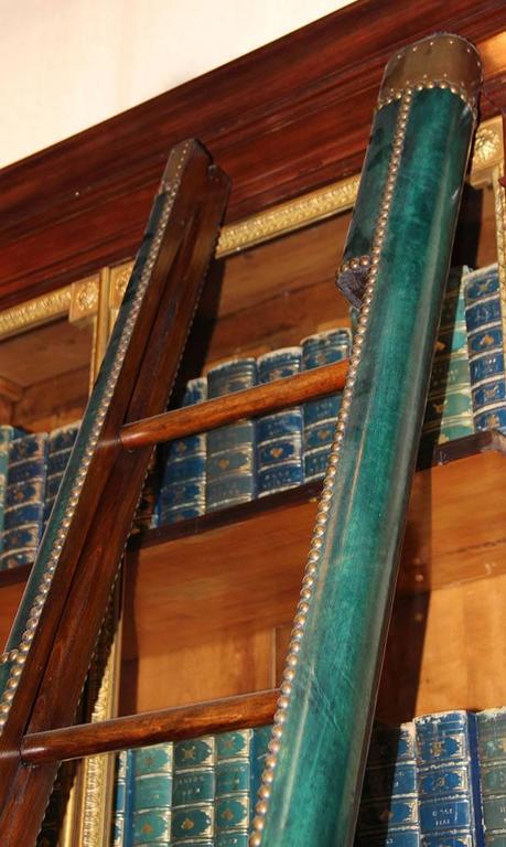 C. Mariani Custom Mahogany Folding Library Ladder in the English Taste 4