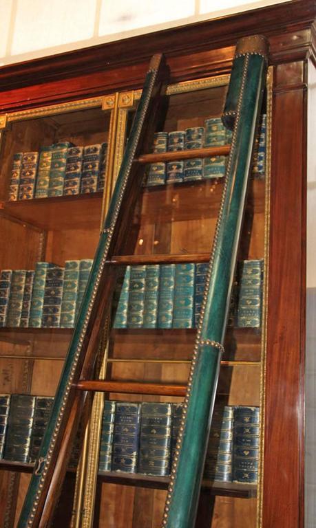 C. Mariani Custom Mahogany Folding Library Ladder in the English Taste 6