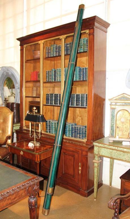 C. Mariani Custom Mahogany Folding Library Ladder in the English Taste 5