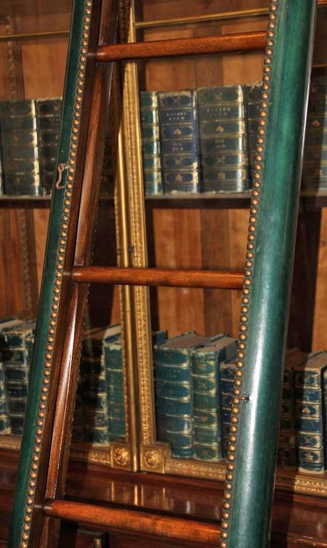 C. Mariani Custom Mahogany Folding Library Ladder in the English Taste 7