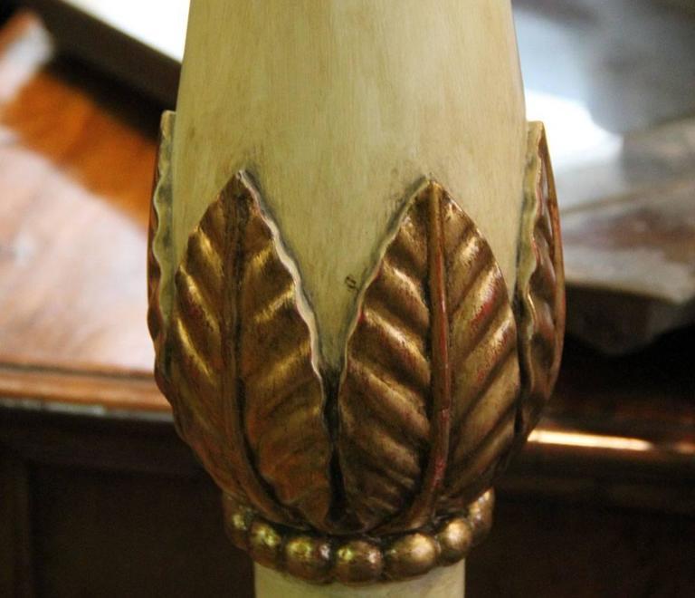 An Italian Style Polychrome and Parcel-Gilt Torchère Floor Lamp 4