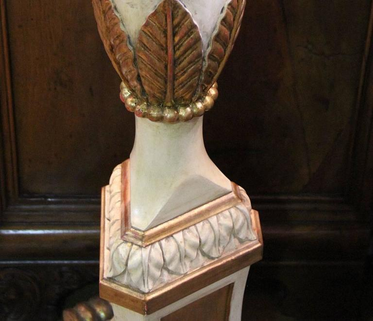 An Italian Style Polychrome and Parcel-Gilt Torchère Floor Lamp 2