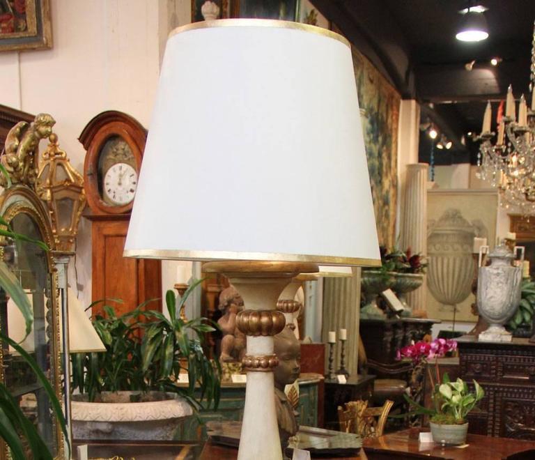 An Italian Style Polychrome and Parcel-Gilt Torchère Floor Lamp 6