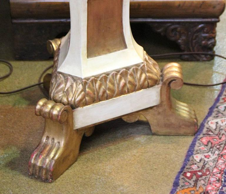 An Italian Style Polychrome and Parcel-Gilt Torchère Floor Lamp 5