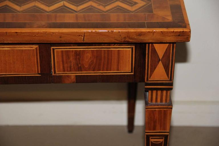 18th Century Italian Parquetry Writing Table 8